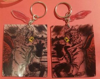 Kirishima Anime Manga Charm Keychain mha bnha my hero academia boku no hero academia Accessory handmade cute eijiro animes mangas art