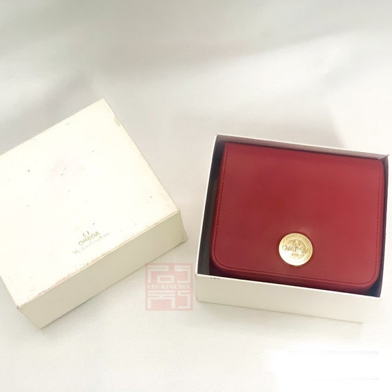 Omega SpeedMaster Watch Box Genuine Red Leather Bo