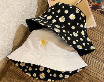 dasiy bucket hat,sheer bucket hat Organza bucket hat summer beach hat gardening bucket hat,