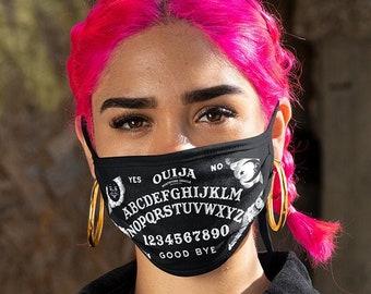 Ouija Face Mask, Ouija Mask, Black and White Mask,Ouija Board, Reusable Mask, Washable Mask, Cotton Mask, Printed Mask, Fabric Mask, NC180