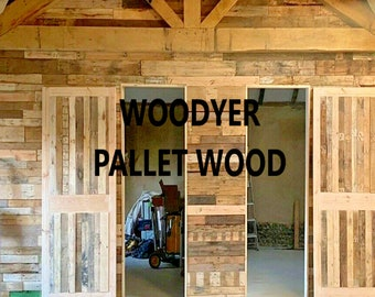 Pallet wood Wainscot cladding Rustic Timber Boards tongue and groove boards