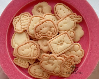 16 types Cute Cartoon Pooh Butter  Animal Cookie Mold,Cookie Cutter Cake Mold,Fondant Decorating Cutter,Paste Tools Cupcake Cake Accessories