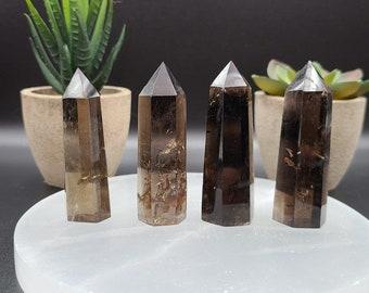 Smoky Quartz Points / Towers - Points - Generators - Obelisks - Crystal Tower