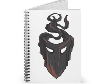 Mask Spiral Notebook (DnD deity of the shadows)
