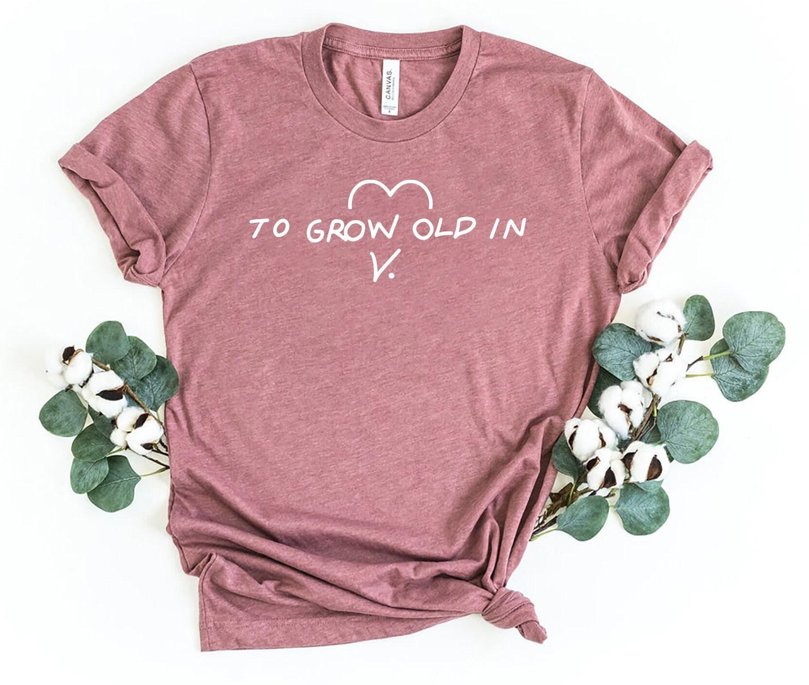 Scarlet Shirt Scarlet Witch Shirt To Grow Old In V Shirt Wandavision Shirt Agatha All Along Shirt
