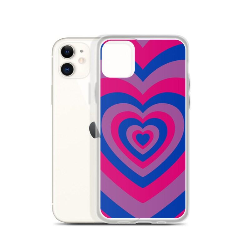 Bisexual Pride Heart iPhone Case image 0