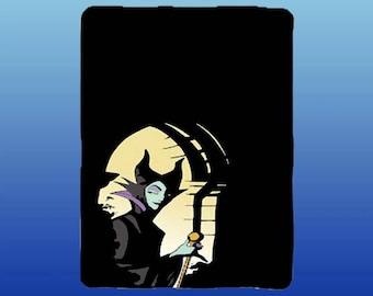 "Disney Maleficent And Diablo Super Plush Throw Blanket 46""x60/"""