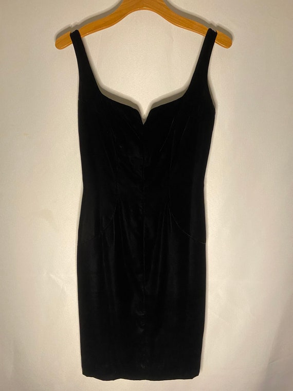 Vintage Victor Costa Black Velvet Dress