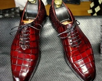 Mens Alligator Shoes Etsy