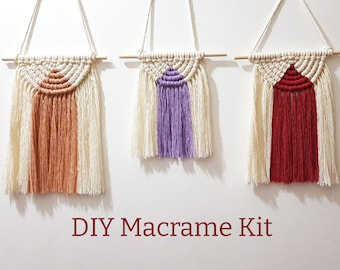 DIY Kit | Macrame Wall Hanging Kit With Video Tutorial | Make Your Own Wall Hanging | DIY Kit | Stress Relief Gift | Letterbox Gift