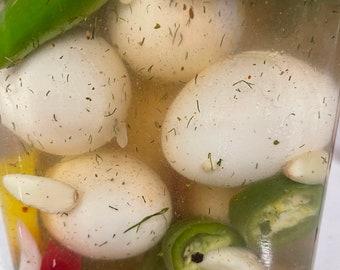 Eggs Pickled Spicy jalapeño 100% Organic
