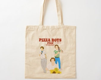 deep dish pizza market eco-friendly bag hot dog Popular Chicago Foods Midwest Chicago Sign cotton canvas tote bag