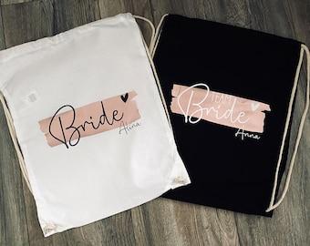 Personalized JGA bags | Hen party | Gym bag | Bride & Team Bride | Wedding JGA Gift Bride bridesmaids