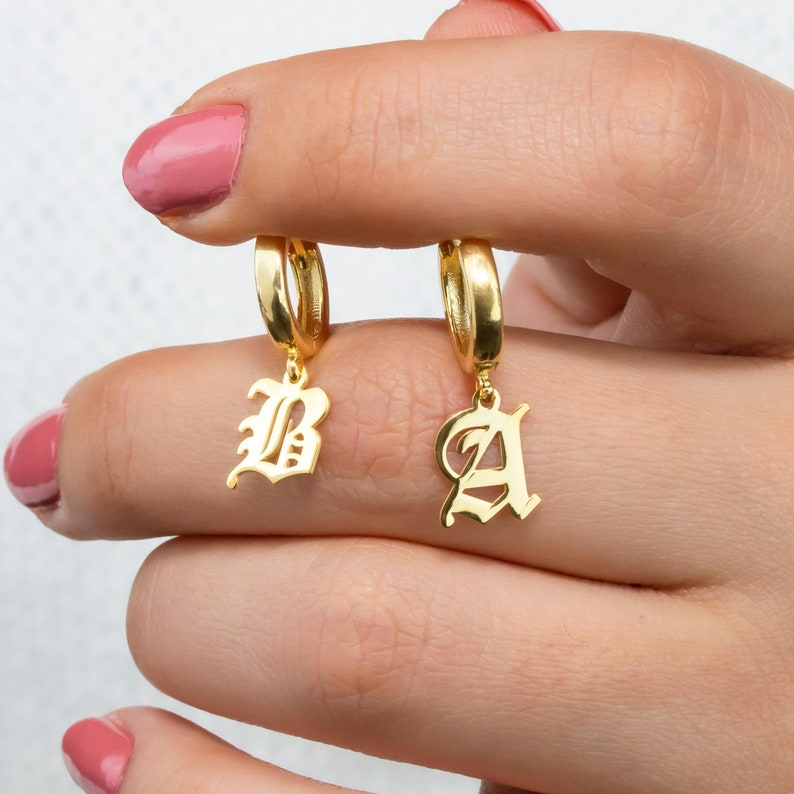 Personalized Gifts Personalized Jewelry Name earring Bar Name earring Gold Name earring Gold Name earring