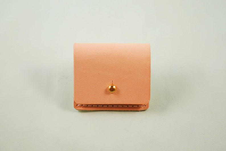 Gift Case for Jewellery  Rings Hand Made in UK from British Vegetable Tanned Leather Leather Mini Coin Purse