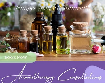 Aromatherapy Consultation | Custom Essential Oil Blend | Customizable Product | One on One Support | Holistic Wellness Support