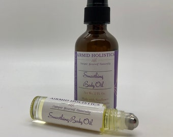 Smoothing Body Oil | Dry Skin Relief | Chemical Free Body Oil | All Natural Moisturizer | Massage Oil | Shower Oil | Vegan Body Care