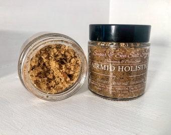 Sugar & Sea Salt Scrub | Sugar Scrub | Sea Salt Scrub | Hand Whipped Scrub | Exfoliant | Exfoliating Skin Scrub | Body Polish