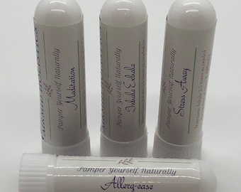 Pick 2 Aromatherapy Inhalers | Essential Oil Inhaler for Stress, Grounding, Allergies, Cough, Essential Oil Blend, Natural Remedy Gift Ideas