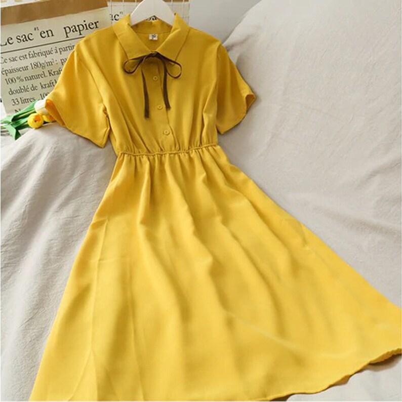 Dark Academia Clothing  Vintage dress 7 colors  Aesthetic Cottagecore Clothing Dress