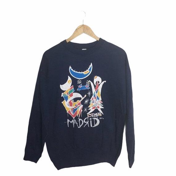 Vintage sweatshirt espana Madrid navy color