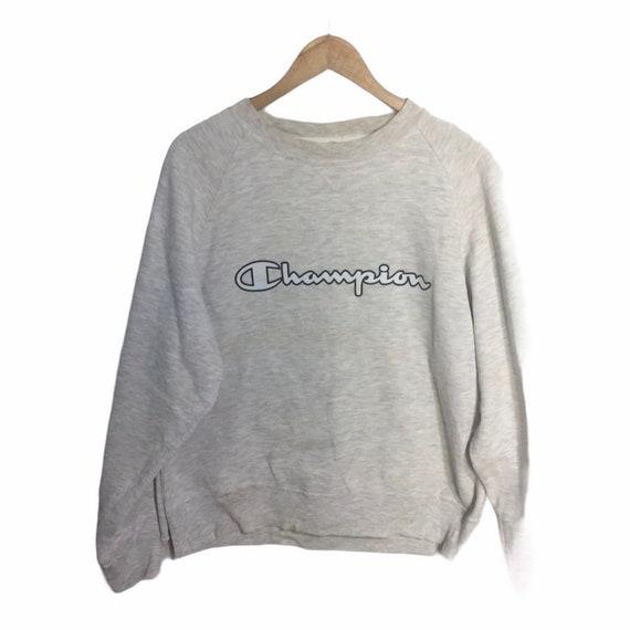 Vintage champion sweatshirt big spell grey colors