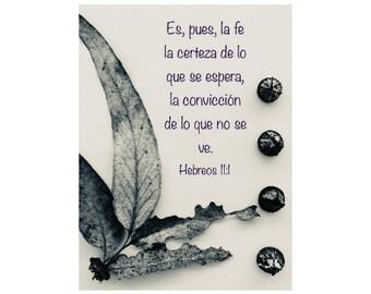 11:1  Hebreos en español , palabra de Dios , verso bíblico en español , mensaje de fe , frases de la biblia, es pues la fe la certeza
