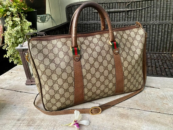 Authentic Gucci Vintage Sherry Duffel Bag