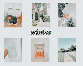 winter lightroom preset