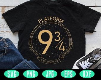 Harry Potter Platform 9 3/4 Svg, Hogwarts Wizard Academy Svg, Wizards Svg, Hogwarts Svg, Harry Potter Inspired, Cricut Design
