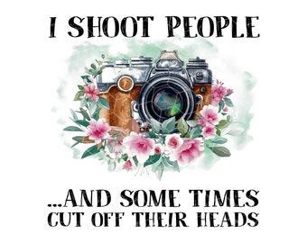 I Shoot People Skinny Tumbler Photographer Gift Photography Gift Glitter Tumbler Funny Photography Gift Photographer
