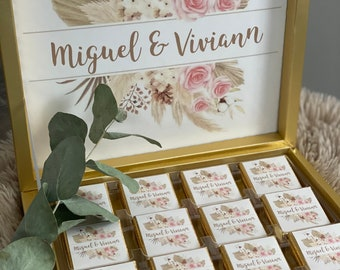 Personalized chocolate box / guest gift