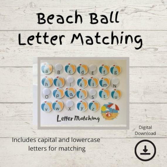 Homeschool Printables  Beachball Letter Matching  Preschool