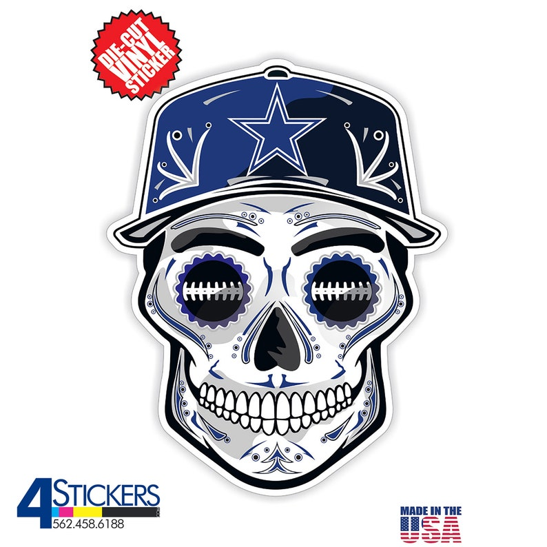 are the  Best Selling Vinyl Skull Stickers and Decals Dallas Cowboys Sticker Packs Sticker Pack Includes 6 Decals.