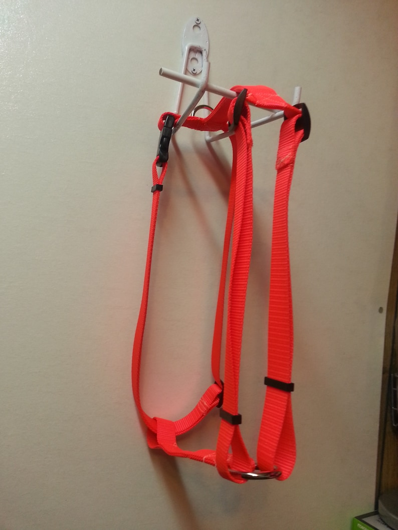 Adjustable Dog Harness Metal Buckle Strong Webbing USA Hand Made
