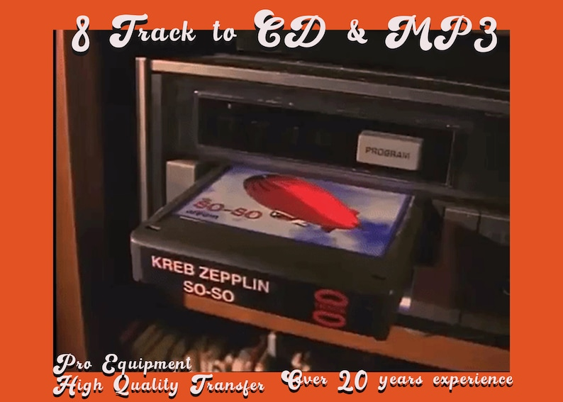 8 Track to CD/USB/Mp3 Digital Download. Audio Conversion. image 0