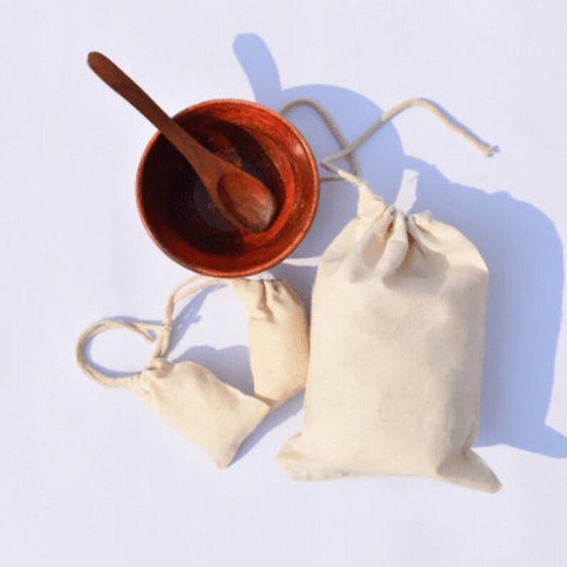 6 x 8 Inches Cotton Muslin Bags 100/% Organic Cotton Single Drawstring Premium Quality Eco Friendly Reusable Natural Muslin Bags.