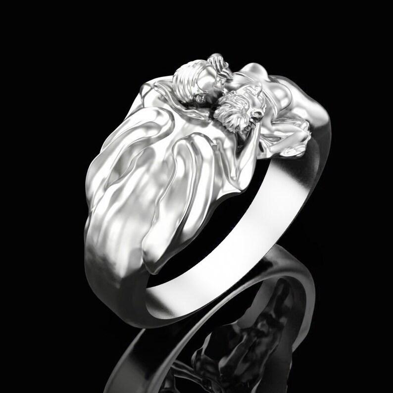 Gothic Steampunk Dracula Silver Ring Vampire Ring