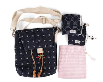 Reversible Denim Bag with complimentary Matching Print Masks