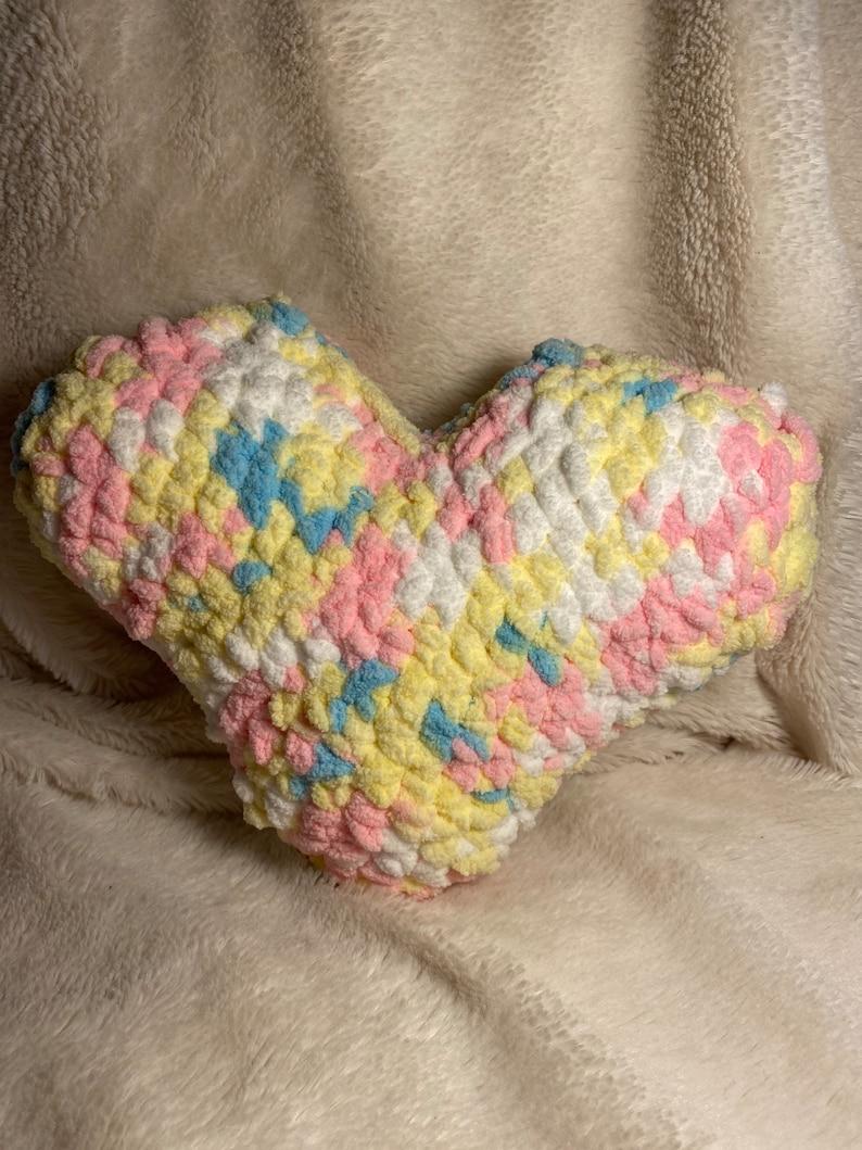 Baby Gift Baby Prop Home Decor Decor Pillow Crochet Heart Pillow Baby Decor