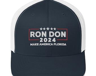 Ron Don 2024 Hat, Trump DeSantis 2024 Hat, Make America Florida Hat, Ron Don 24 Hat, Gift for Trump & DeSantis Fans, Trump DeSantis Gifts