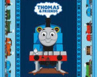 Thomas The Train cotton Panel Fabric