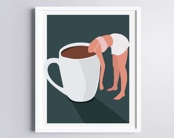 Coffee Lover Art Print, Instant Download Print