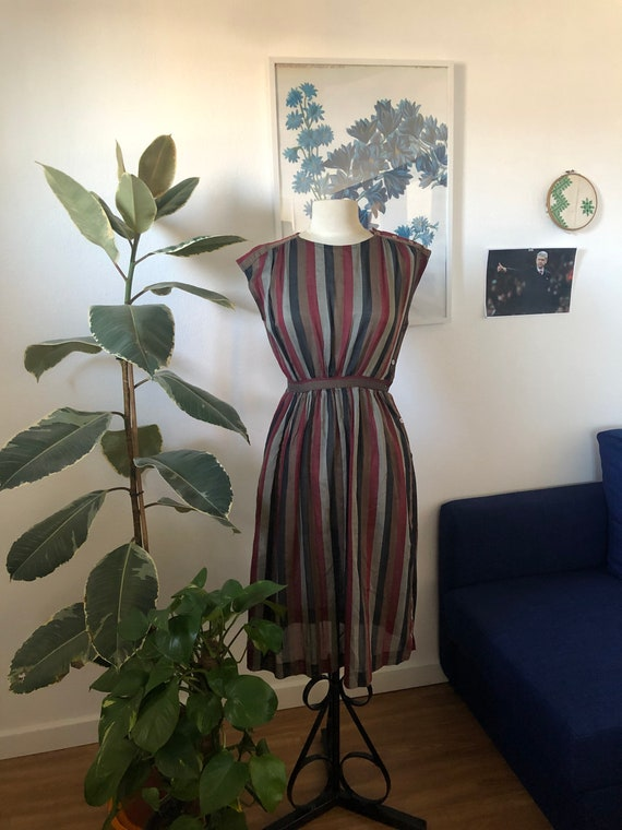 Graphic vintage dress 80's