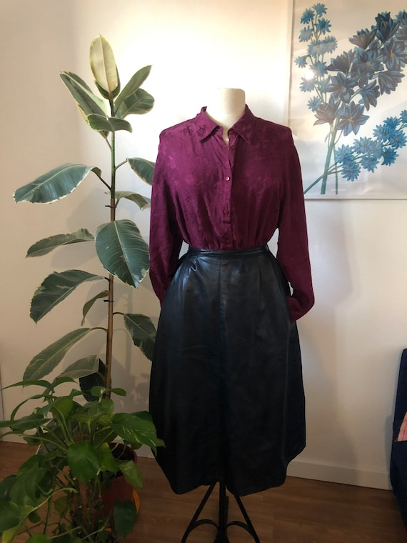 Leather skirt 70's