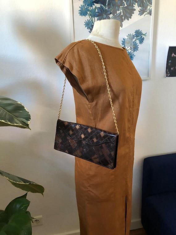 70s snakeskin patchwork leather bag
