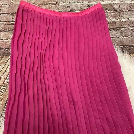 Vintage Todd Oldham Fuchsia Pleated Skirt