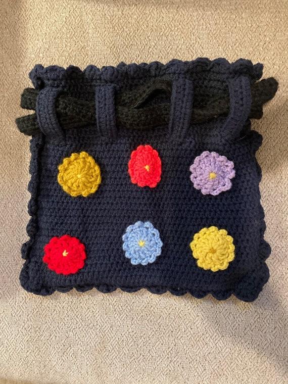Crochet Bag, Granny Square Bag, Crochet Purse, Cro