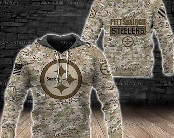 Pittsburgh Steelers Camo Hoodie/Zip Hoodie, NFL Gift, Fans NFL, Women Hoodie, Steelers Men Hoodie, Steelers NFL Gift For Fan Lover