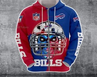 Buffalo Bills Zip Hoodie, Buffalo Bills Hoodie, Gift For NFL Fans, Hoodie For Men, Hoodie For Women